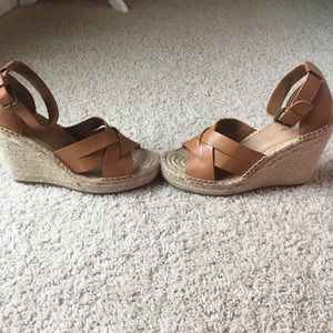 Abound cognac espadrille jute wedges